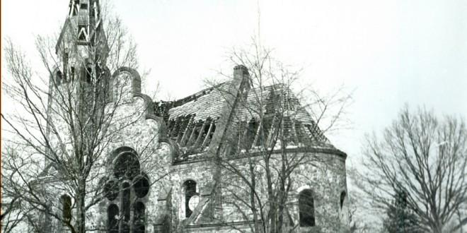 Pisarzowice, kościół ewangelicki, elewacja południowa, fot. z 1985 r.