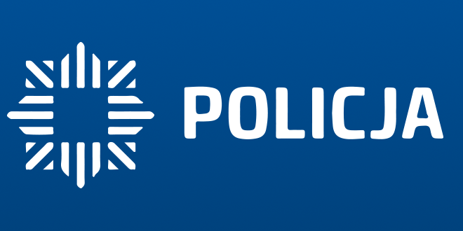 policja napis i logo